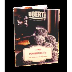 Livret recette pour réaliser des encas sains et bio sans cuisson avec les produits Uberti.