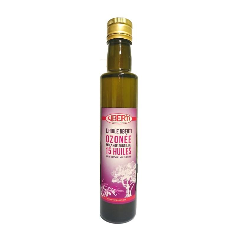 Huile ozonée Uberti - cosmétique soin de la peau - massage