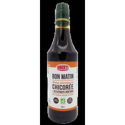 Bon Matin bio Uberti - boisson chaude ou froide pour le petit-déjeuner à base de chicorée et d'extraits végétaux - 50 cl