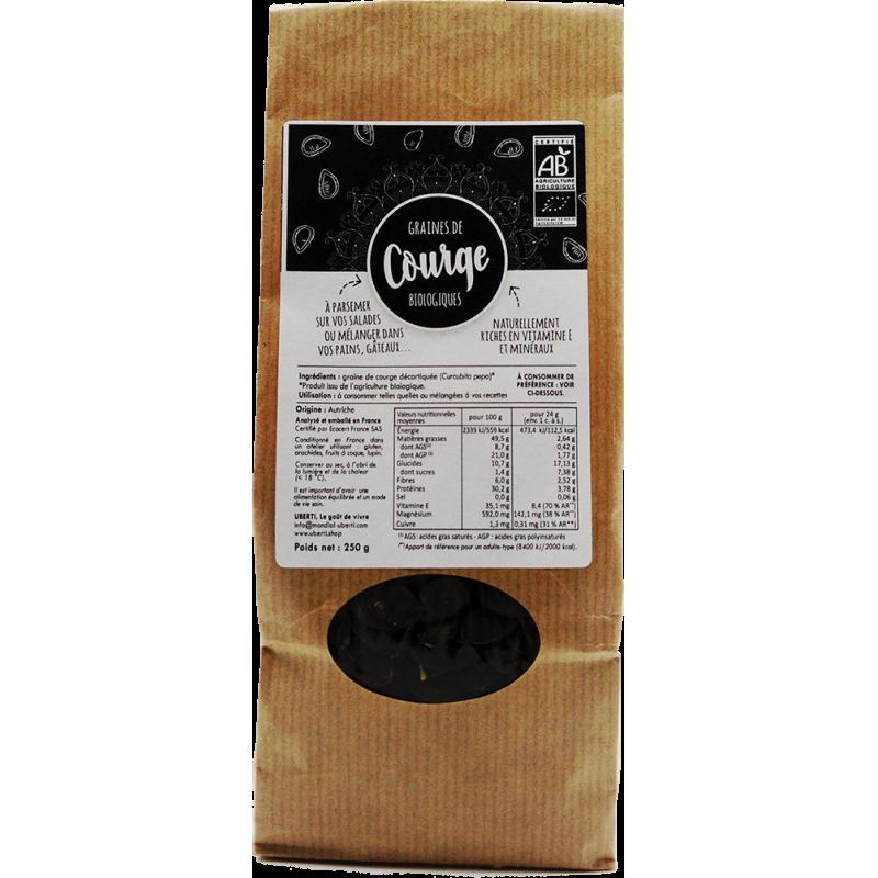 Graines de courge Bio décortiquées - Sachet 250 g Uberti
