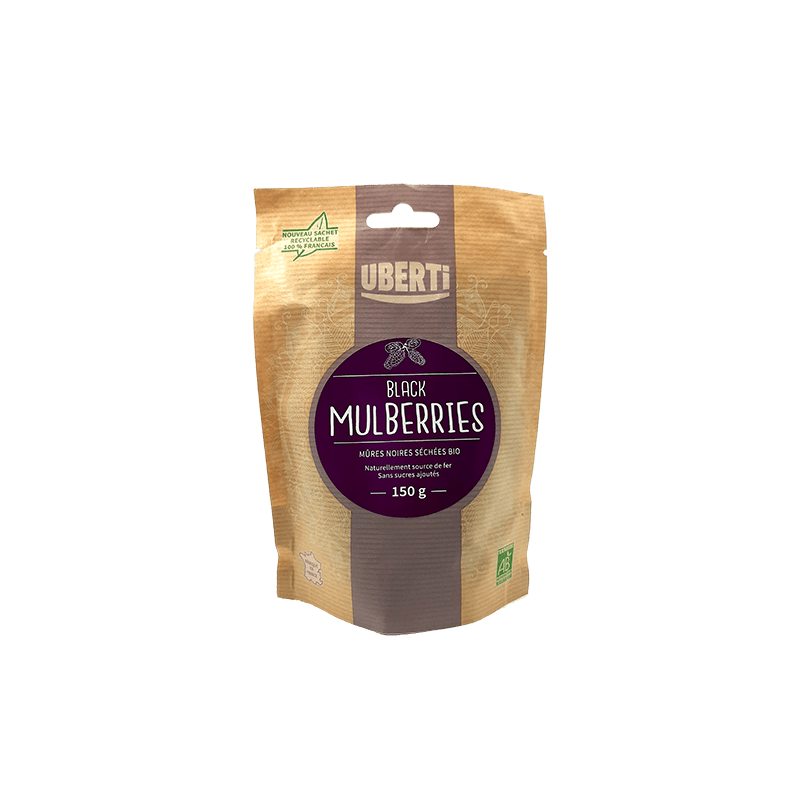 Black Mulberries bio Uberti (mûres noires) - 150 g