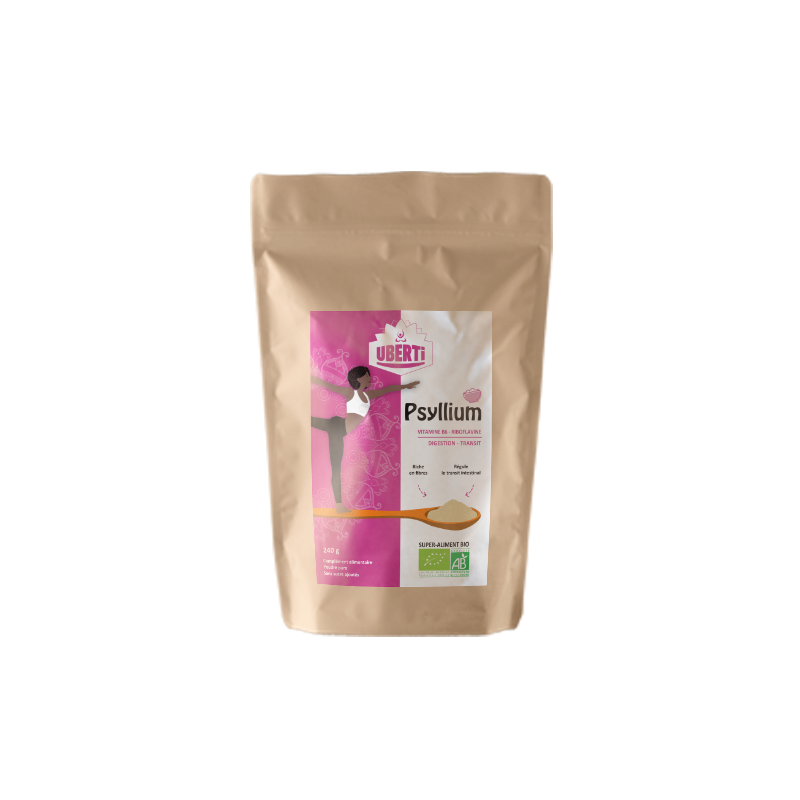 Poudre de psyllium blond - Sachet 240 g Uberti