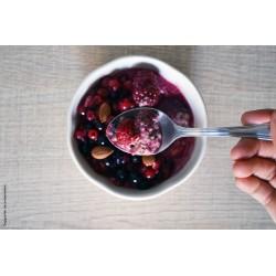 Chia Bowl Superfruits bio Uberti - Un petit-déjeuner à base de graines de chia - 300 g - suggestion de présentation