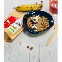 Matin énergie bio - super aliment en poudre Uberti - suggestion de présentation