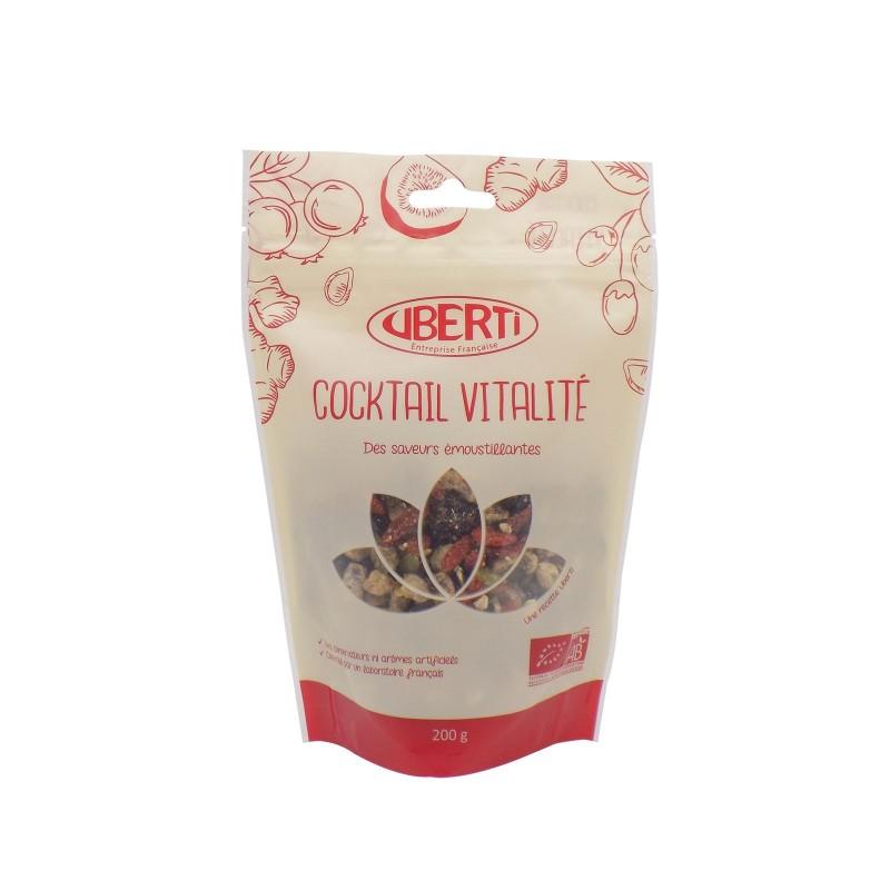 Cocktail Vitalité bio Uberti - Un savoureux mélange à base de superfruits et graines de courge - 200 g