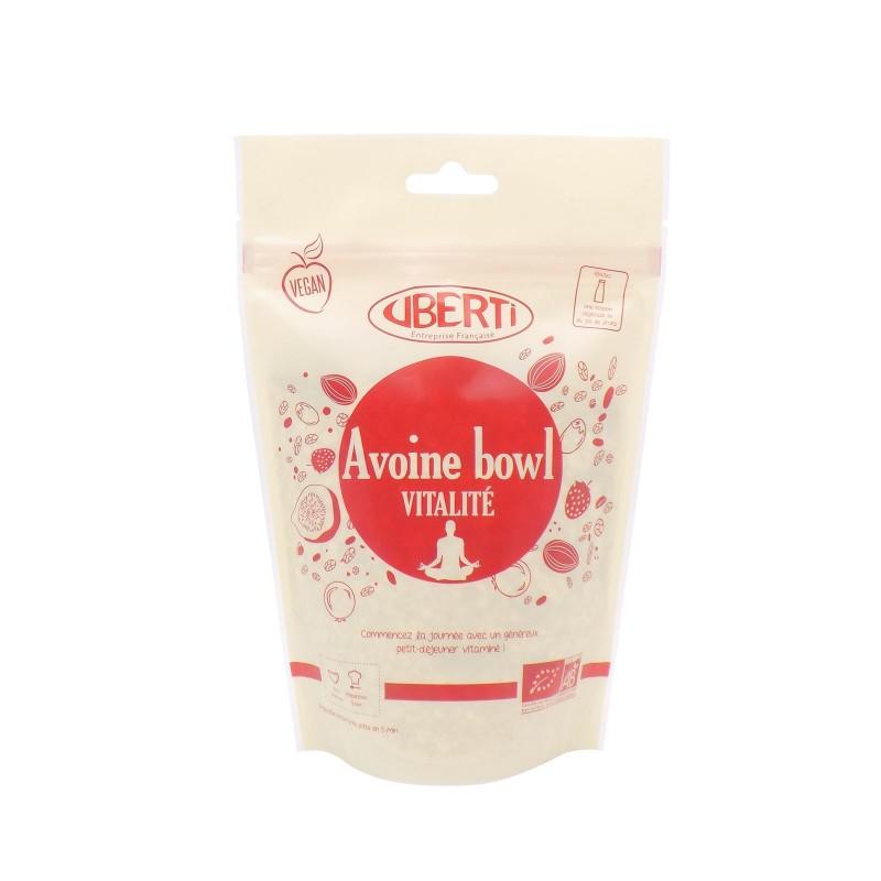 Avoine bowl Vitalité bio Uberti - Un petit-déjeuner à base de flocons d'avoine - 300 g