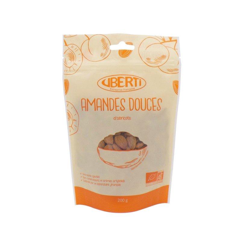 Amandes douces d'abricots bio Uberti - nature - ni grillées ni salées - 200 g