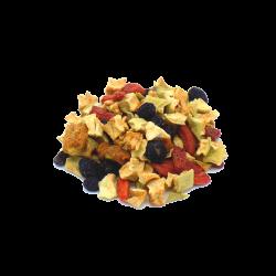 Cocktail Détox bio Uberti - Un savoureux mélange à base de superfruits (mulberries, pommes, physalis et baies de goji) - vrac